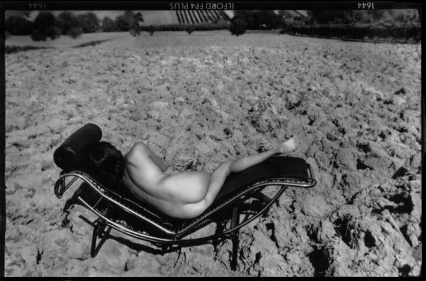 nude woman relaxing