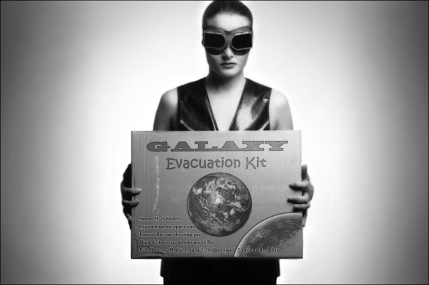 woman with Galaxy Evacuation kit