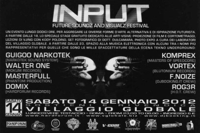 Input - Future Soundz and Visualz Festival - Villaggio Globale